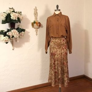 Vintage Banana Republic Silk Skirt #D899